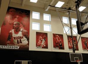 banner framing in the Richard Jefferson Gym