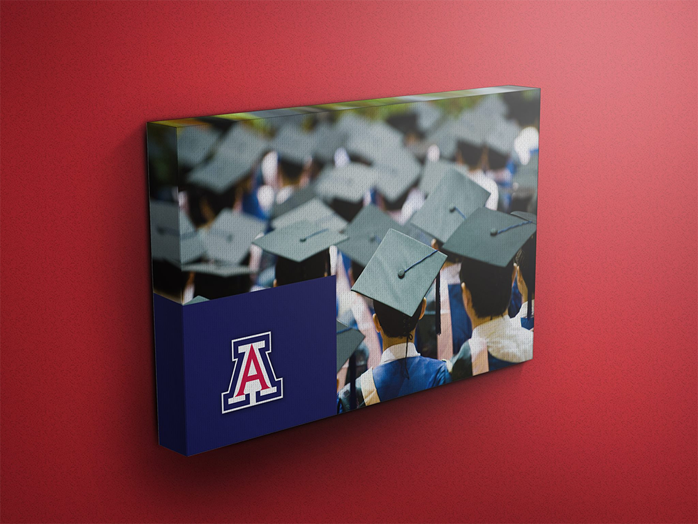Canvas print for University of Arizona Graduation