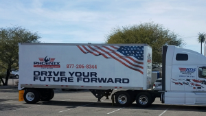 Large Trailer with Vehicle Graphics