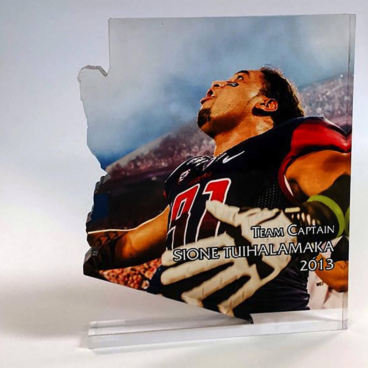 Acrylic Awrd for UA Football