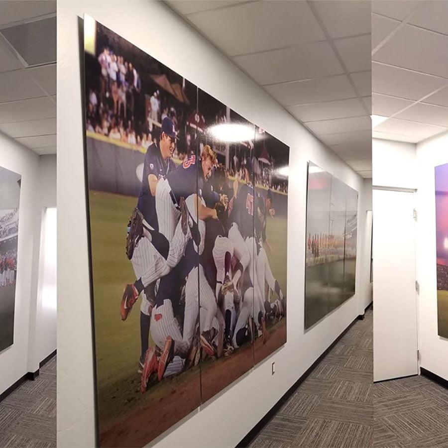 Metal Mural for UA Baseball