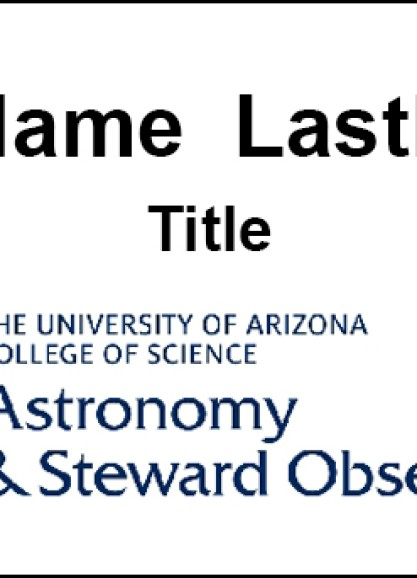 Full Color University of Arizona Name Tag With Name, Title and College