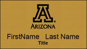 Brushed Gold UA Name Tag