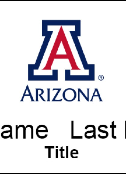 Full Color University of Arizona Name Tag With Name and Title
